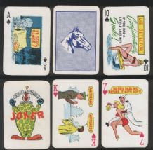 Vintage  Pinup playing cards Stud naughty Pin up cartoons